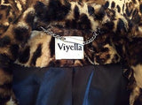 New Viyella Brown Leopard Print Short Faux Fur Feel Jacket Size 14 - Whispers Dress Agency - Womens Coats & Jackets - 3