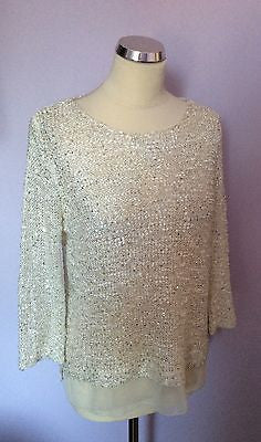 Cherry Couture White Sequined Scoop Neck Jumper One Size - Whispers Dress Agency - Sold