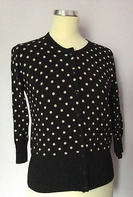 Marks & Spencer Autograph Black & White Spot Cardigan Size 12 - Whispers Dress Agency - Sold