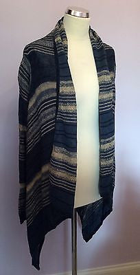 Ralph Lauren Jeans Blue & Beige Linen Cardigan Size S/M - Whispers Dress Agency - Sold - 1