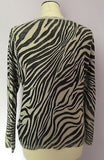 Betty Barclay Beige & Grey Print Scoop Neck Jumper Size 16 - Whispers Dress Agency - Sold - 2