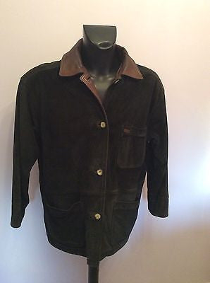 Timberland Black Suede & Brown Leather Trim Jacket Size L - Whispers Dress Agency - Sold - 1