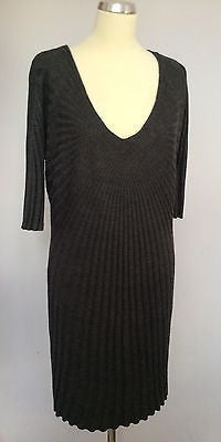 Monsoon Grey Scoop Neck Knit Dress Size XL - Whispers Dress Agency - Sold - 1
