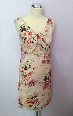 Sticky Fingers Cream Floral Print Pencil Dress Size 8 - Whispers Dress Agency - Womens Dresses - 1