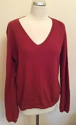 Deane & White Cranberry Angora Blend V Neck Jumper Size XL - Whispers Dress Agency - Womens Knitwear - 1