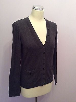 Laura Ashley Grey V Neck Cardigan Size 12 - Whispers Dress Agency - Sold