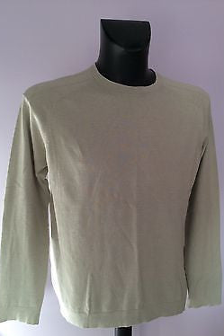 Ted Baker Beige Crew Neck Silk & Cotton Blend Jumper Size 5 Approx L - Whispers Dress Agency - Mens Knitwear - 1