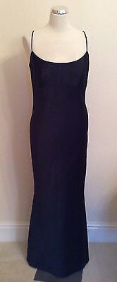 KELSEY ROSE BLACK LONG EVENING DRESS SIZE 12 - Whispers Dress Agency - Womens Eveningwear - 1