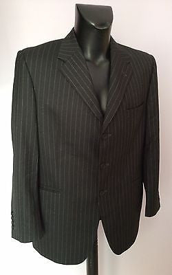 Smart Gieves & Hawkes Charcoal Pinstripe 100% Wool Suit Size 42S/36W - Whispers Dress Agency - Sold - 1