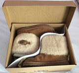 Ugg K. Ellee Tan Sheepskin Ankle Boots Size 2 /33 - Whispers Dress Agency - Sold - 1