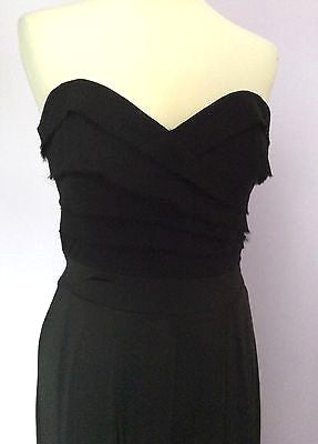 Lipsy Black Strapless Jumpsuit Size 10 - Whispers Dress Agency - Womens Jumpsuits & Playsuits - 2