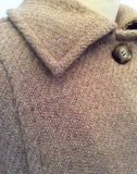 Vintage Aquascutum Fawn 100% Wool Coat Fit UK 14/16 - Whispers Dress Agency - Sold - 3
