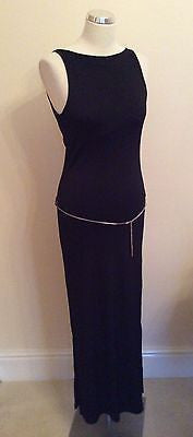 Hunters & Gatherers Black Low Back Dress Size L - Whispers Dress Agency - Sold - 1