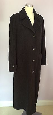 Jacques Vert Dark Grey Wool & Cashmere Long Coat Size 12 - Whispers Dress Agency - Womens Coats & Jackets - 1