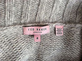 Ted Baker Light Grey Sequined Flower Trim Cardigan Size 4 Approx 14 - Whispers Dress Agency - Sold - 4