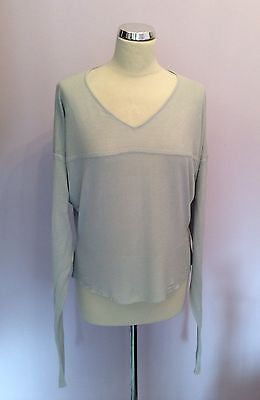 Bitte Kai Rand Copenhagan Pale Blue 100% Bamboo V Neck Jumper Size XL - Whispers Dress Agency - Sold - 1