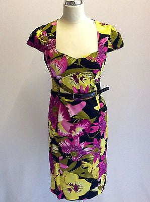 Star By Julien Macdonald Floral Print Cotton Dress Size 10 - Whispers Dress Agency - Womens Special Occasion - 1