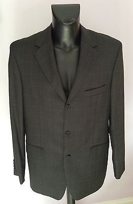 9fe408821 Smart Hugo Boss Dark Grey Check Super 100 Wool Suit Jacket Size 42 - Whispers  Dress