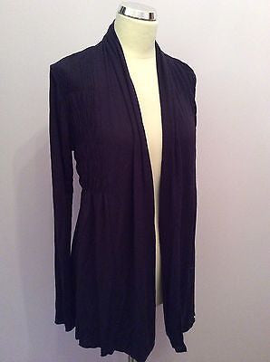 My Tribe Dark Blue Ruched Detail Cardigan Size S - Whispers Dress Agency - Womens Tops - 1