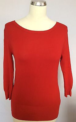 French Connection Red Button Back Jumper Size XS - Whispers Dress Agency - Womens Knitwear - 1
