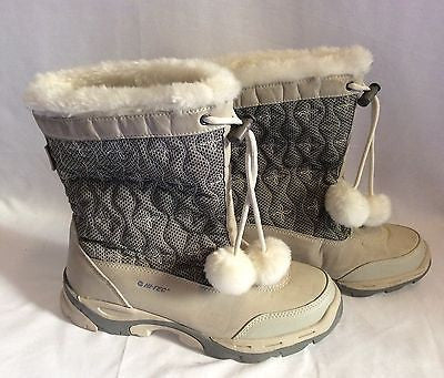 Hi Tec Light Grey Faux Fur Lined Snowdonia 200 Snow Boots Size 7/40 - Whispers Dress Agency - Sold - 1