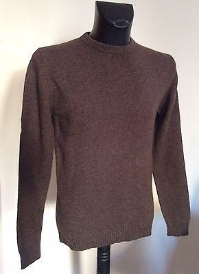 Monsoon Brown Lambswool Crew Neck Jumper Size M - Whispers Dress Agency - Sold