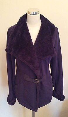 Per Una Purple Buckle Front Fasten Jacket Size M - Whispers Dress Agency - Womens Coats & Jackets - 1