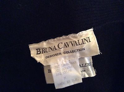 Vintage Bruna Cavvalini Black Knit Wool Jewel Trim Cardigan & Skirt Suit Size M - Whispers Dress Agency - Womens Vintage - 4