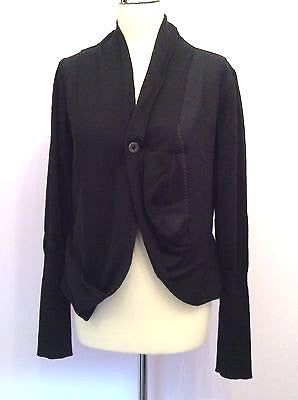 Crea Concept Black Merino Wool Cardigan / Jacket Size 40 UK 10/12 - Whispers Dress Agency - Sold - 1