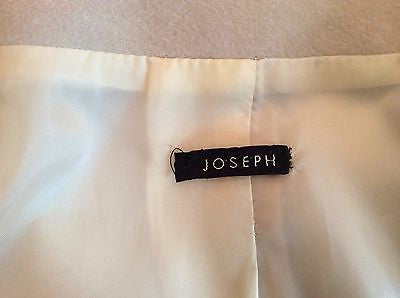Joseph Cream Coat Size 42 Uk 12 - Whispers Dress Agency - Womens Coats & Jackets - 5