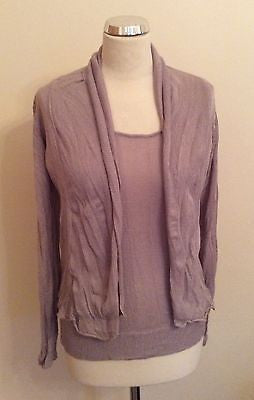 Brand New Sandwich Mauve Fine Knit Sleeveless Top & Cardigan Size Small - Whispers Dress Agency - Sold - 1