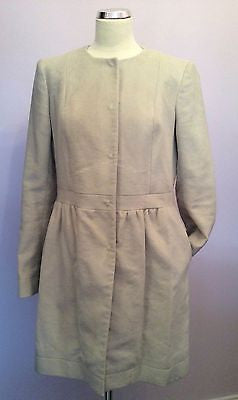Joseph Cream Coat Size 42 Uk 12 - Whispers Dress Agency - Womens Coats & Jackets - 3