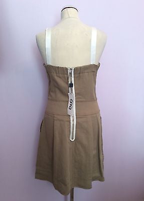 Brand New With Tags Dolce & Gabbana Beige & White Dress Size 44 UK 12 - Whispers Dress Agency - Womens Dresses - 3