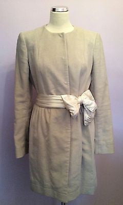 Joseph Cream Coat Size 42 Uk 12 - Whispers Dress Agency - Womens Coats & Jackets - 1