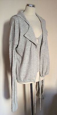 Armani Jeans Light Grey Sleeveless Knit Top & Matching Quirky Cardigan Size 10 - Whispers Dress Agency - Sold - 1