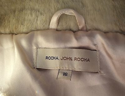 John Rocha Beige Faux Fur Gilet Size 16 - Whispers Dress Agency - Womens Gilets & Body Warmers - 3