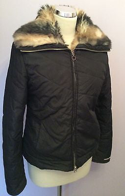 Miss Sixty Black Faux Fur Lined Lightly Padded Jacket Size M - Whispers Dress Agency - Sold - 1