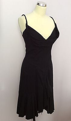 All Saints Black Cotton Dress Size M - Whispers Dress Agency - Sold - 1