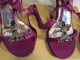 Karen Millen Pink Jewelled Ribbon Tie Sandals Size 4.5/37.5 - Whispers Dress Agency - Sold - 3