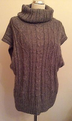 Laura Ashley Light Brown Roll Neck Sleeveless Jumper Size 16 - Whispers Dress Agency - Womens Knitwear - 1