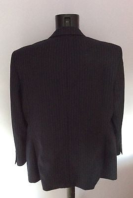 Smart Daks Black Pinstripe Wool Suit Jacket Size 44S - Whispers Dress Agency - Mens Suits & Tailoring - 2