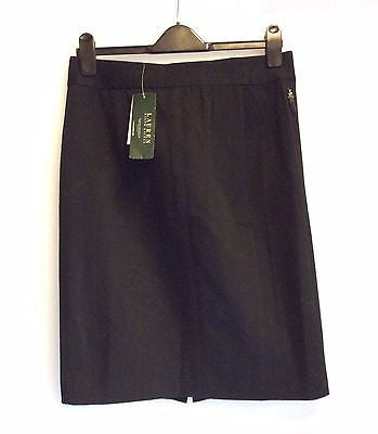Brand New With Tags Ralph Lauren Black Gwyneth Straight Skirt Size UK 10 - Whispers Dress Agency - Womens Skirts - 3