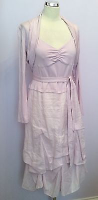 Apanage Pink Parachute Hem Dress And Bolero Jacket Suit Size 14 - Whispers Dress Agency - Sold - 1