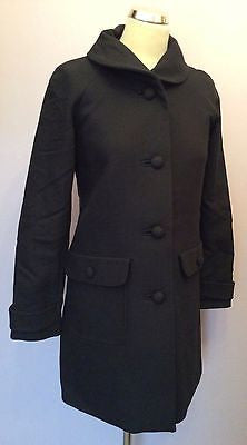 Massimo Dutti Woman Black Coat Size 38 UK 8 - Whispers Dress Agency - Sold - 1