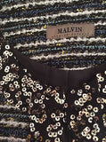 Brand New Malvin Black & Ivory Sequined Trim Jacket Size 12 - Whispers Dress Agency - Sold - 4