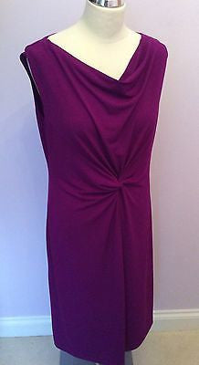 Kim & Co Imperial Purple Stretch Dress Size L - Whispers Dress Agency - Womens Dresses