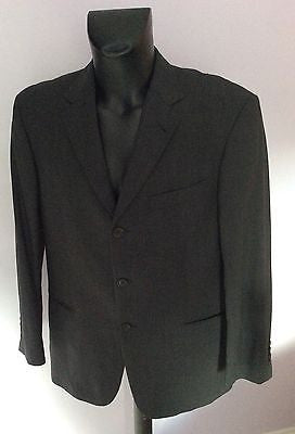 Smart Hugo Boss Dark Grey Wool Suit Jacket Size 50 UK 40 - Whispers Dress Agency - Mens Suits & Tailoring - 1