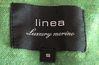 Linea Luxury Merino Wool Green V Neck Jumper Size S - Whispers Dress Agency - Mens Knitwear - 2