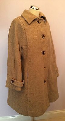 Vintage Aquascutum Fawn 100% Wool Coat Fit UK 14/16 - Whispers Dress Agency - Sold - 1