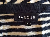 Jaeger Navy Blue & White Striped Cotton Cardigan Size M - Whispers Dress Agency - Sold - 3